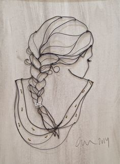 sculptural drawing by christina james nielsen: Presentation of sculptural drawings Wire Art Sculpture, Wire Sculptures, Abstract Sculpture, Bronze Sculpture, Hilograma Ideas, Sculptures Sur Fil, Art Fil, Wire Drawing, 3d Prints
