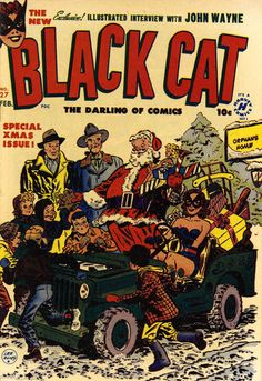 Black Cat ~ The Darling of Comics Lee Elias, February 1951