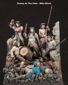 """""""Enemy At The Gate : Defenders Of The Vienna. Aganaist The Turkish Siege 1683"""" By Mike Blank.  #diorama #vignette #figure_model http://www.planetfigure.com/threads/enemy-at-the-gate-vienna-1683-diorama-by-mike-blank.78685/"""
