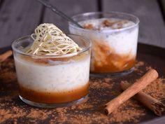 Receta | Postre en vaso de arroz con leche de chocolate blanco y paté de canela - canalcocina.es