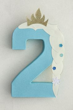 Frozen Party Decoration Elsa Number or Letter by LittleABCDesigns Elsa Birthday Party, Frozen Themed Birthday Party, Disney Frozen Birthday, 3rd Birthday Parties, 2nd Birthday, Birthday Games, Frozen Party Decorations, Birthday Party Decorations, Party Themes