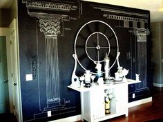 Chalkboard paint let's you add a little culture to your decor without emptying your bank account.