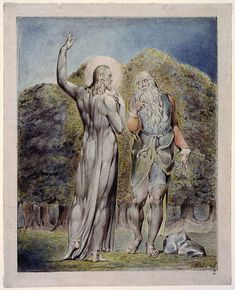 Christ Tempted by Satan to Turn the Stones to Bread - William Blake