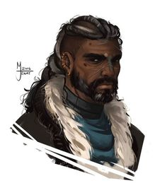 Ideas For Hair Black Men Portraits Fantasy Male, Fantasy Rpg, Medieval Fantasy, Black Characters, Dnd Characters, Fantasy Characters, Character Creation, Character Concept, Character Art
