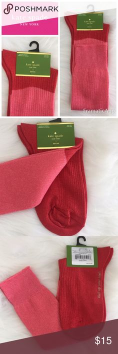 💥SALE💥♠️Kate Spade NY Glitter KneeHigh Sock ♠️Kate Spade New York glittery shimmery Knee High socks // 4384225A-ZCI COSTUME PINK // 40% nylon, 30% polyester, 20% metallic, 3% lycra // NWT.        🚭SMOKE FREE🚭BUNDLE & SAVE🛍🛍 kate spade Accessories Hosiery & Socks