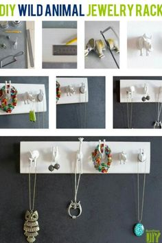 Diy jewelery rack/holder out of toy animals