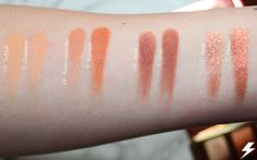 Colourpop Double Entendre vs. Tarte Toasted Swatches Second Row Flash