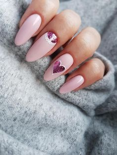 Pastel Nails: TOP 17 Inspirations Which Are Fashionable This Season - Best Nail Art Fabulous Nails, Gorgeous Nails, Pretty Nails, Heart Nail Art, Heart Nails, Dream Nails, Love Nails, Cute Nail Designs, Acrylic Nail Designs