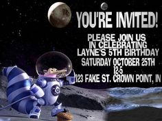 Ice Age Collision Course Invitation by TinymindsByMimi on Etsy