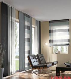 Unland Black, Fensterideen, Vorhang, Gardinen und Sonnenschutz - curtains, contract fabrics, pleated blinds, roller blinds and more. Made in Germany