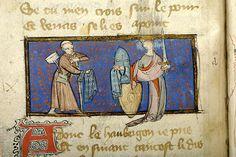 Le pèlerinage de la vie humaine, M.1038 fol. 34v - Images from Medieval and Renaissance Manuscripts - The Morgan Library & Museum