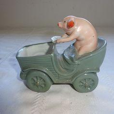Antique GERMAN Porcelain FAIRING PINK PIG Driving Car Early 1900s | Antiques, Decorative Arts, Ceramics & Porcelain | eBay!