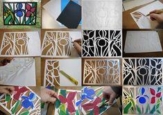 Ideas for each plastic DIY - Joanna Wajdenfeld: stained glasses paper