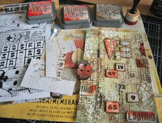 Hi folks, it's Tuesday and that means it's time to share this week's project for AALL&Create . Crazy Paving, Distress Oxide Ink, Distressed Painting, Garden Theme, Journal Art, Art Journaling, Blank Cards, Tim Holtz