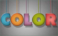 Красочный набивной текст  Colorful Stuffed Text Effect