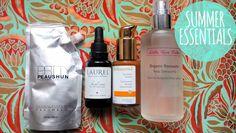 Summer Essentials 2014 Organic Beauty, Natural Beauty, Beauty Review, Summer Essentials, Rose Water, Cruelty Free, Vodka Bottle, Hair Care, Green