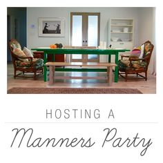 Host a Manners Party to get your kids ready for the holidays in a fun way. Via Playful Learning Teaching Manners, Teaching Kids, Kids Learning, Good Manners, Table Manners, Etiquette Classes, Activity Day Girls, Activity Days, Family Home Evening