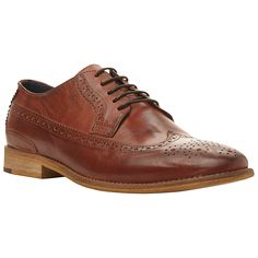 Buy Dune Raston Leather Brogue Derby Shoes, Brown, 40 Online at johnlewis.com