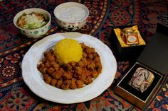 Persian saffron rice and meatballs Bakery Recipes, Dog Food Recipes, Appetizer Recipes, Beef Recipes, Healthy Recipes, Saffron Recipes, Iranian Cuisine, Ireland Food, Saffron Rice