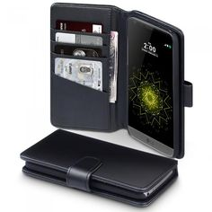 Läderplånbok till LG G5. Hitta fler fodral: http://www.phonelife.se/fodral