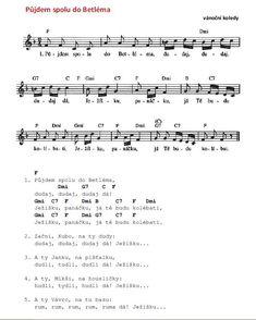 Vánoční - Půjdem spolu do Betléma Sheet Music, Music Sheets