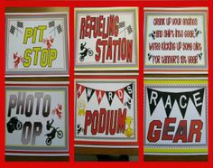 Dirt bike Party Signs by NaeNaeMadeIt on Etsy, $8.00