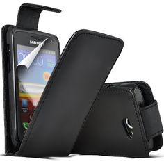 Buy Samsung Galaxy W i8150 Leather Flip Case Cover (Black) Plus Free Gift, Screen Protector and a Stylus Pen, Order Now Best Valued Phone Case on Amazon! By FinestPhoneCases NEW for 10.99 USD | Reusell