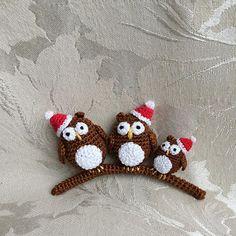 #crochetowl #family #christmas #handmade #christmasornament #christmasdecoration #santa