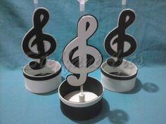 Centro de Mesa - Notas Musicais