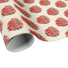 Vintage floral card tiled party wrap wrapping paper - craft supplies diy custom design supply special