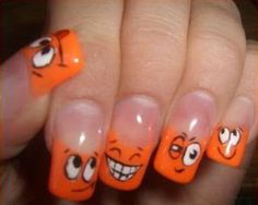 For girls who like painting your nails today we bring this beautiful design with smiling faces, bad ones, tongue sticking out, etc.. A f...