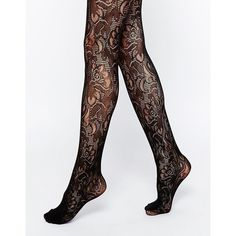 Jonathan Aston Tribute Over The Knee Tights ($28) ❤ liked on Polyvore featuring intimates, hosiery, tights, black, print tights, patterned stockings, over knee tights, patterned tights and high waisted black tights