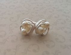 Pearl Earrings Birds Nest Earrings Bridesmaid by Meant2Bead, $16.00