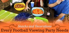 Whether you throw get-togethers on Saturdays and Sundays or tailgate in front of the stadium, there are many delicious snack ideas and cheer-worthy decorations every football fan will love!