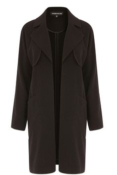 This chic duster coat is constructed from medium-weight woven fabric and features an open front, long sleeves and two front pockets. Length of jacket, from shoulder seam to hem, 91cm approx. Height of model shown: 5ft 10 inches/178cm. Model wears: UK size 10.Fabric:Main: 96.0% Polyester