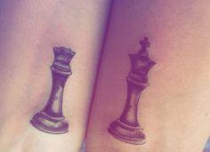 #Tattoo #tattoocasal #tattoxadrez #tattoofeminina