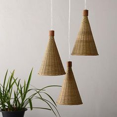 Cornett Pendant Lamp, Scandinavia Modern Bamboo & Wood Hanging Light – Light with Shade Wood Pendant Light, Pendant Light Fixtures, Pendant Lamp, Pendant Lighting, Rattan Light Fixture, Lamp Light, Natural Interior, Home Interior, Chandeliers