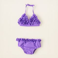 baby girl - swimwear - 3D rosette bikini | Children's Clothing | Kids Clothes | The Children's Place