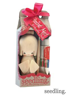 Paint your own Kokeshi doll by www.seedling.com! Get yours today!