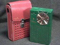Vintage Transistor Radio with case