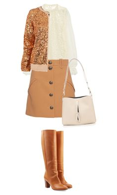 """Camel + White"" by cherieaustin on Polyvore featuring Dolce&Gabbana, Chloé, Wildfox, Maison Margiela, women's clothing, women's fashion, women, female, woman and misses"