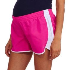 Danskin Now Maternity Woven Running Shorts, Size: XL, Pink