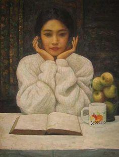 """Girl Reading"" - Di Li Feng"