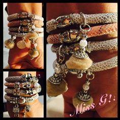 Python & Silver Bracelets!! Instagram @mochilasmissgbags