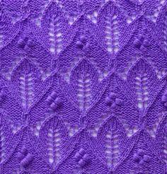 Free Knitting Patterns - Tulip Knit Stitch Pattern
