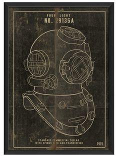 Diver Helmet, Black by Artwork Enclosed at Gilt