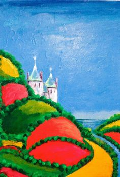 """Castell Coch in the Day. 11x16"""" Acrylic"""