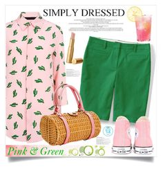 """Simply Pink & Green"" by queenvirgo on Polyvore featuring American Retro, Lands' End, Converse and Kate Spade"