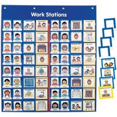 Complete Work Station Management Kit Grades Pre K- K Need this for centers! Kindergarten Classroom Management, Kindergarten Centers, Classroom Organisation, Classroom Activities, Classroom Ideas, Kindergarten Freebies, Kindergarten Curriculum, Classroom Teacher, Creative Curriculum