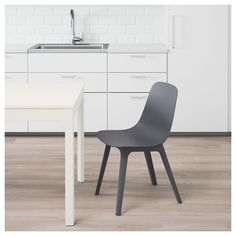 IKEA - ODGER, Chair, blue, Comfortable to sit on thanks to the bowl-shaped seat and rounded shape of the backrest. No tools are required to assemble the chair, you just click it together with a simple mechanism under the seat. Kitchen Chair Cushions, Porch Chairs, Wrought Iron Patio Chairs, Dining Chairs For Sale, Dining Room Chairs, Ikea Chairs, Desk Chairs, Chaise Ikea, Pixies